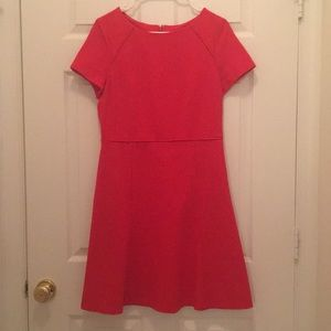 J.Crew Red Work Fit and Flare Dress